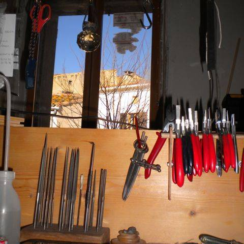 Blue Sky in the Jewellery Workshop