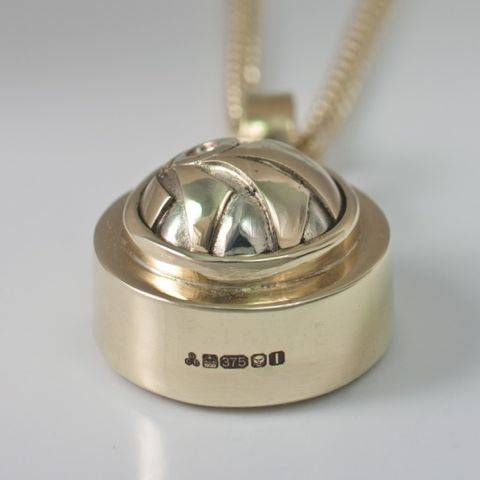 Unique Gold Compass Pendant with Hallmark