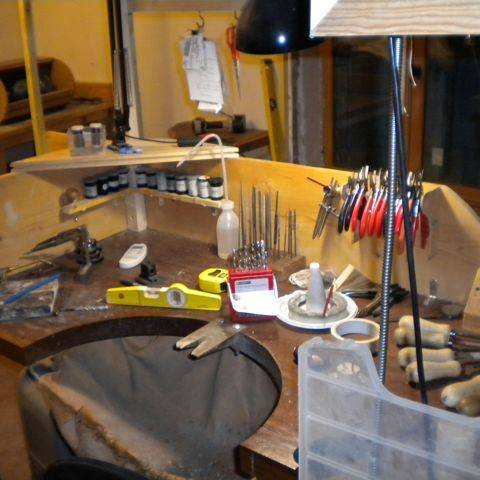 jewellery workshop bench