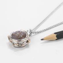 Moonstone Silver Compass Necklace